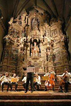 Musiciens, retable de l'église Saint-Pierre